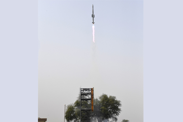 DRDO conducted two successful Launches of VL-SRSAM Missile System
