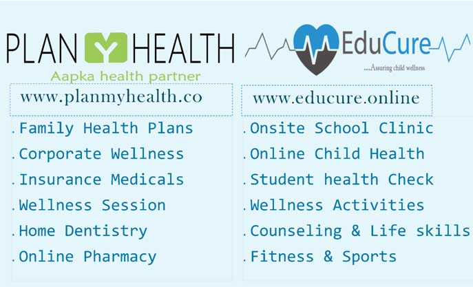 Plan My Health & Educure delivering all kind of Digital preventive & Online wellness Services to Corporate Schools & families