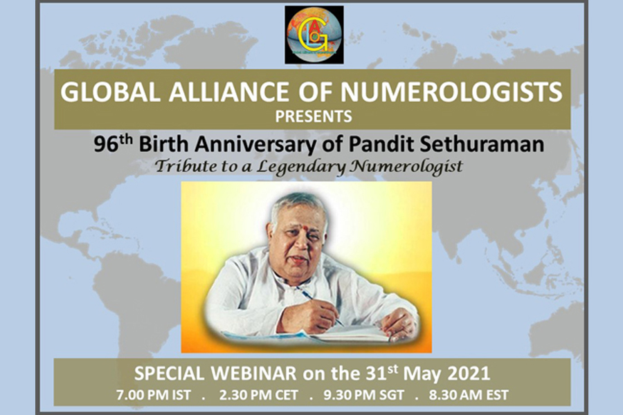 Global Alliance of Numerologists (GLAON) to organize special webinar on May 31, 2021