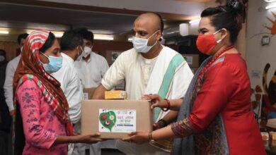 Akshaya Patra and Sahyog an NGO run by Ms. Swati Kovind the Daughter of Hon'ble President Shri. Ram NathKovind Collaborate to Distribute Essential Grocery Kits in Delhi